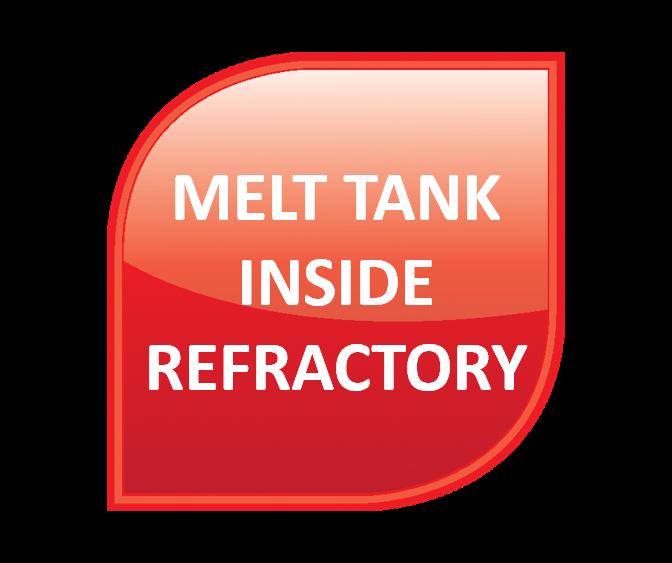 Melt Tank – Inside Refractory