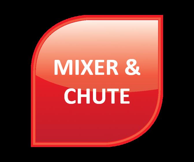 Asphalt / Roadstone / Tarmac - Mixer and Chute