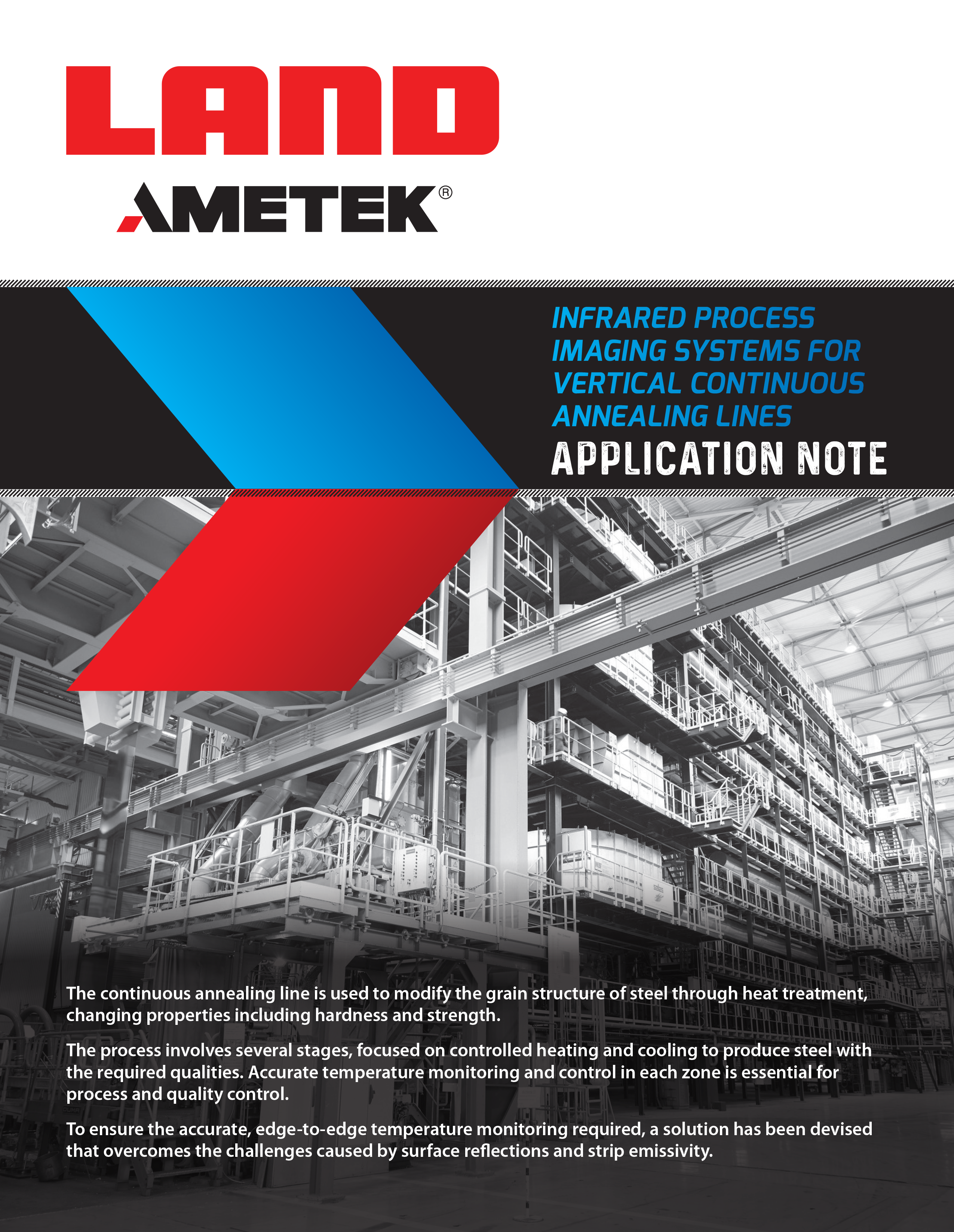 Infrared Process Imaging Systems For Vertical Continuous Annealing Lines - Application Note EN