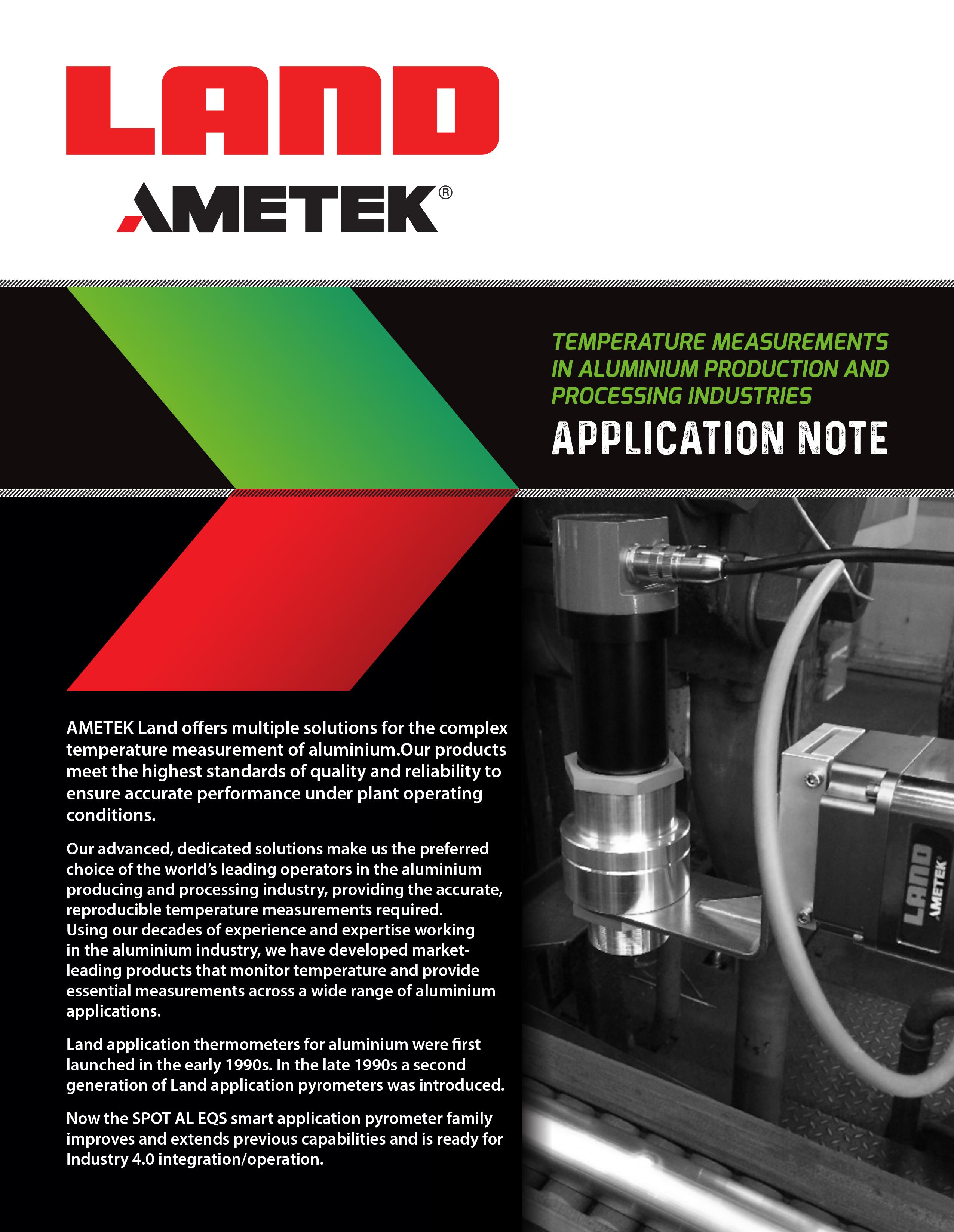 Temperature Measurements in Aluminium Production and Processing Industries - Application Note (EN)