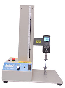 LTCM test stand with DFS force gauge