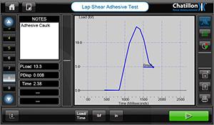 Adhesive caulk test result