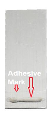 Adhesive on sample