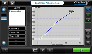 Cyanoacrylate test result